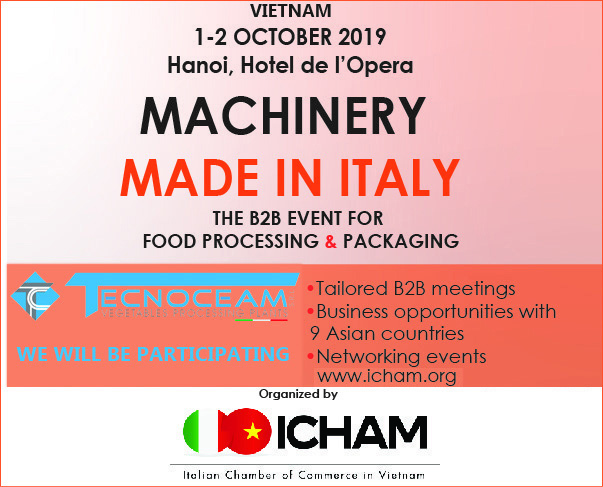 BANNER MACHINERY MADE IN ITALY VIETNAM 2019 TECNOCEAM